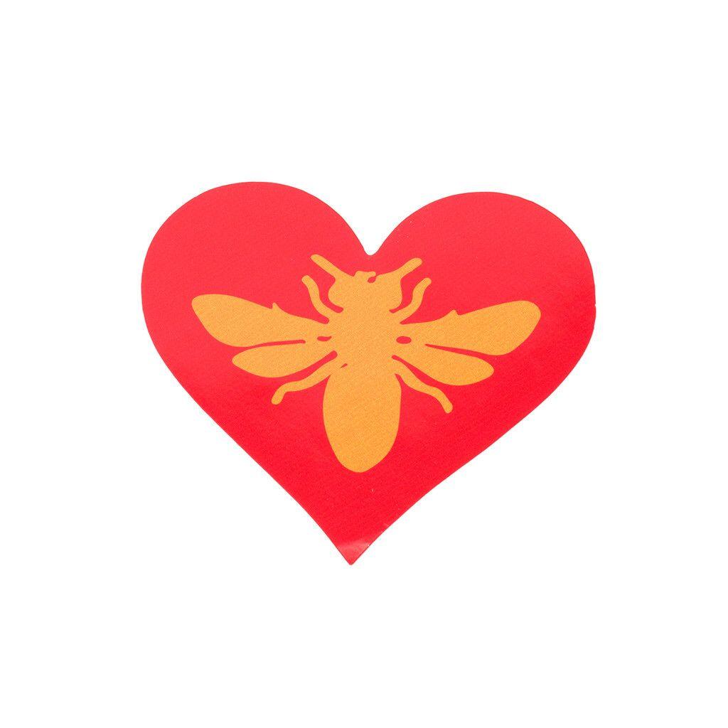 Bee Heart Sticker | beethinking.com
