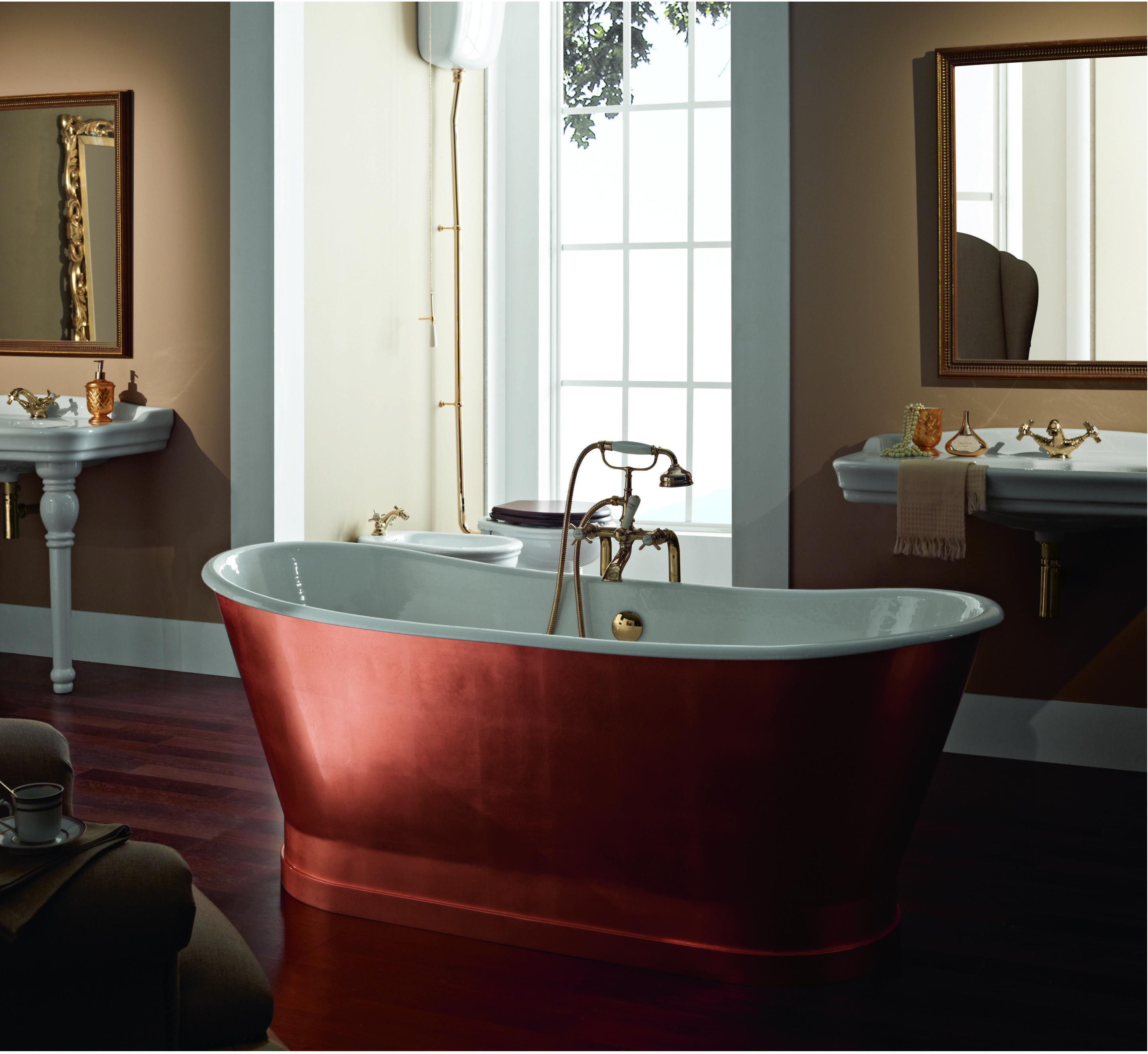 Salle De Bain Cuivree ~ baignoire en fonte antica finition feuilles de cuivre baignoires