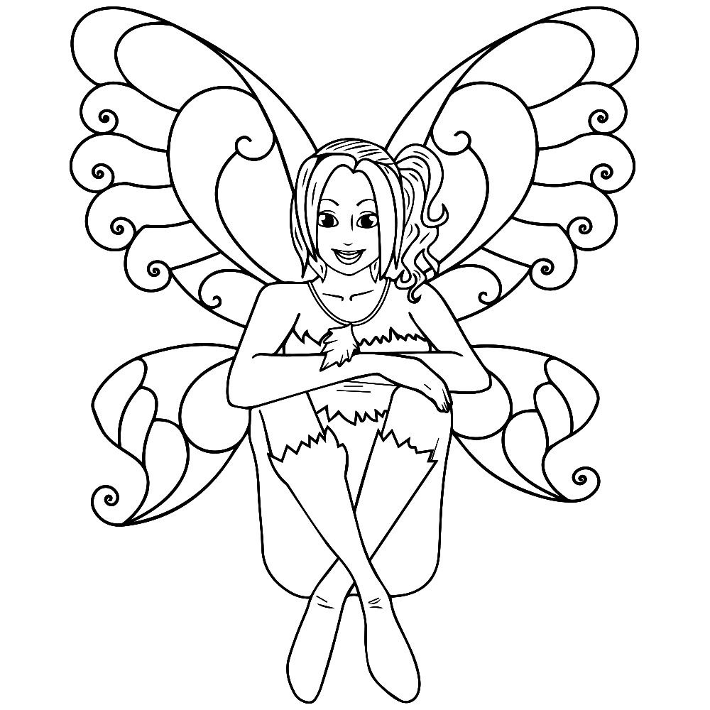 Pin by Югай Наталья on Контурные рисунки in 2020 Fairy
