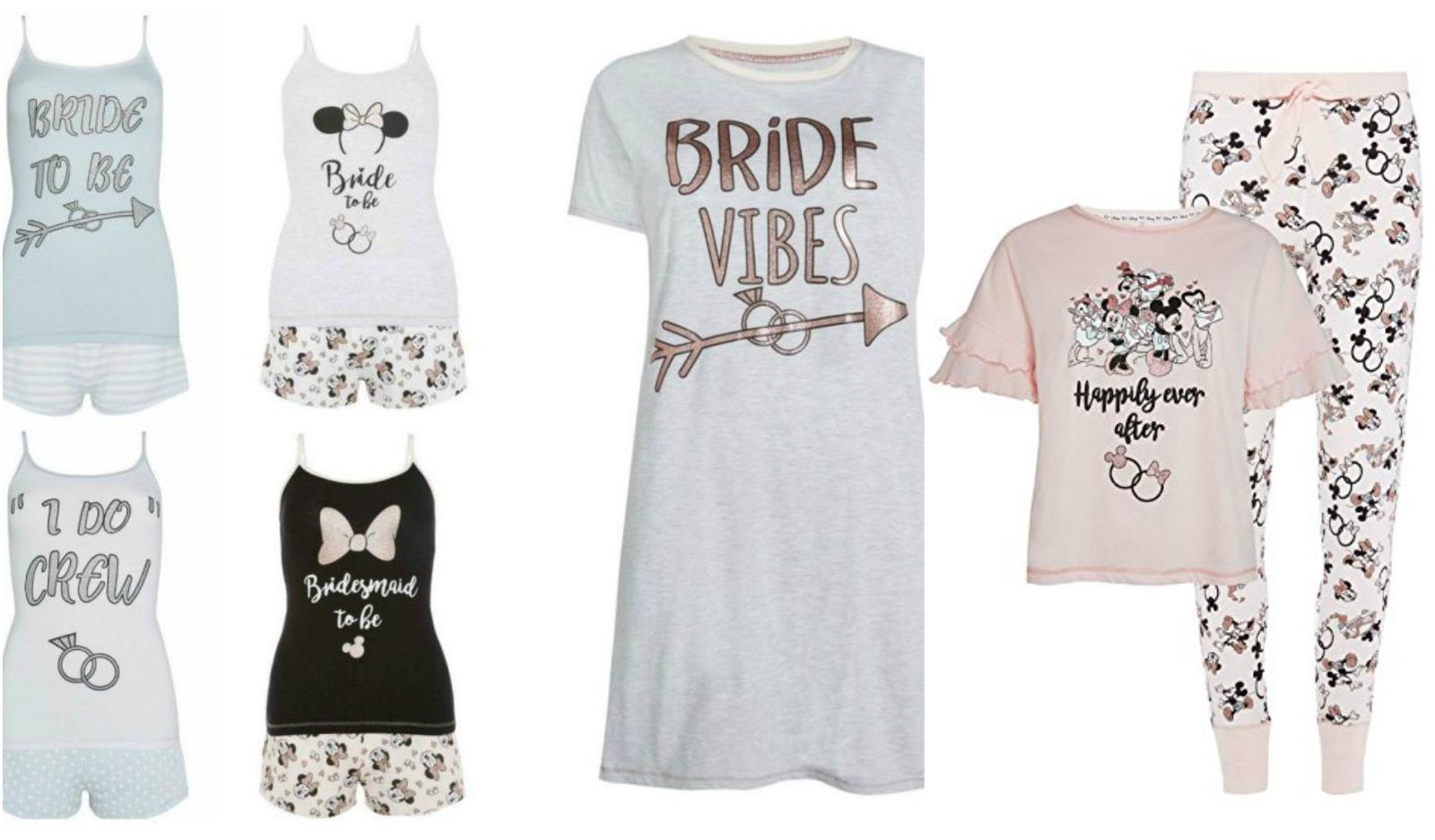 Disney Bride To Be Pyjamas Women Vest Shorts Las Hen Party Pj S Primark