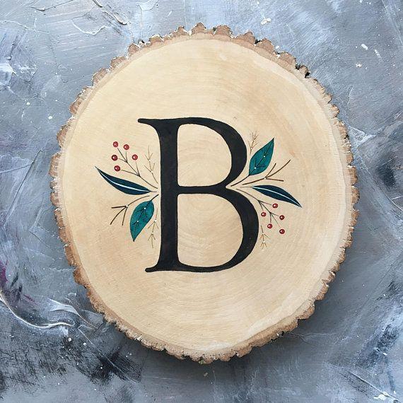 Wooden letter B sign Family name sign Last name wood sign Nursery name sign Baby girl name sign Last name wall art Wooden name sign monogram #burnedwoodstenciling
