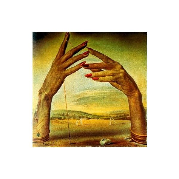 Salvador Dali portrait of a passionate woman hands ❤ liked on ...