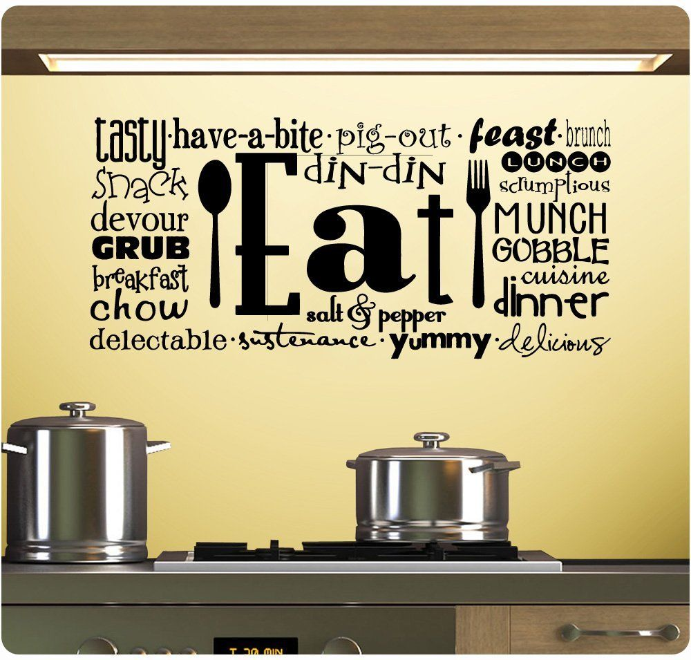 17 Best images about Kitchen Wall Stickers of Quotes on Pinterest |  Lettering, Life is short and Home