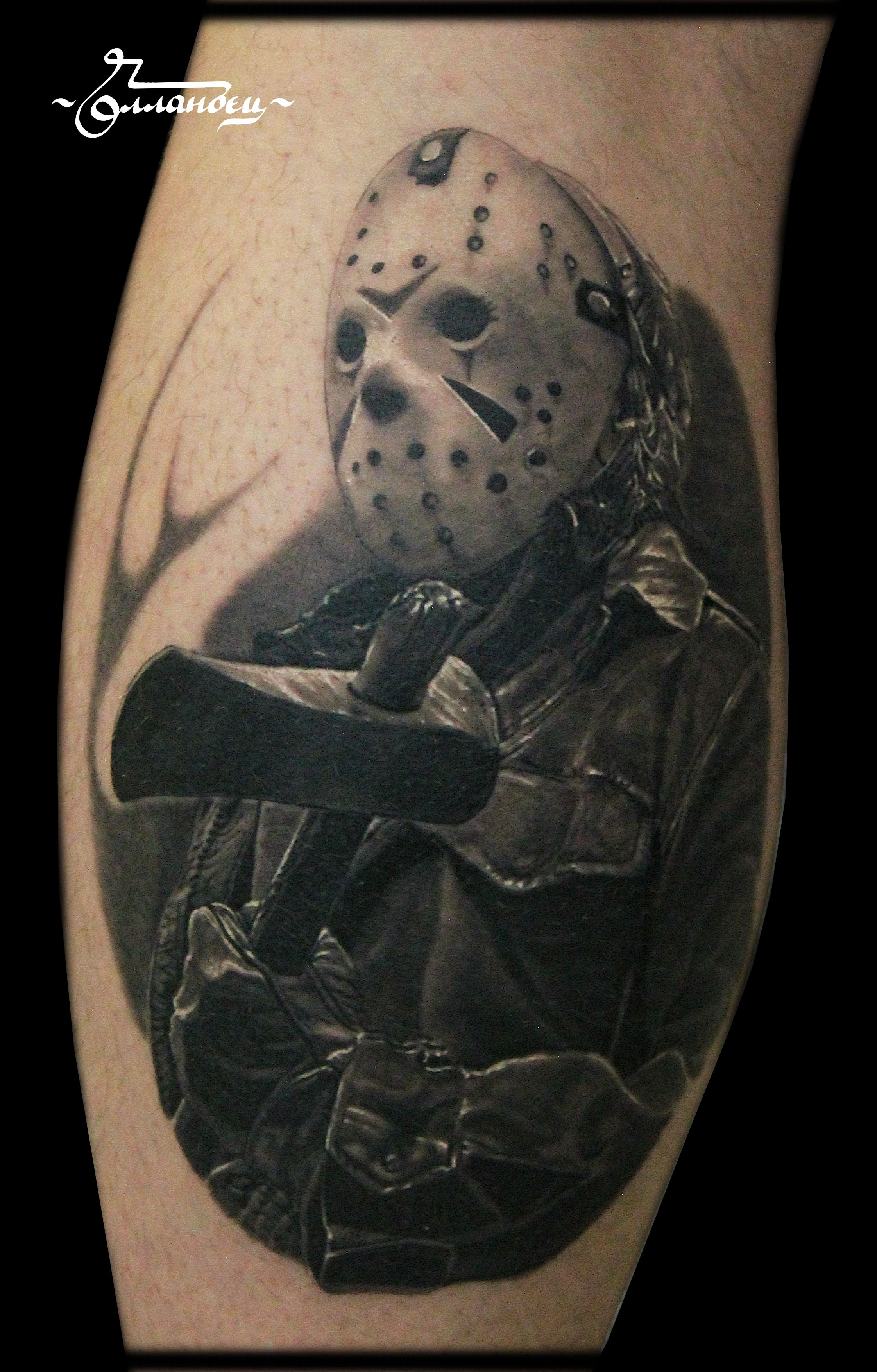 jason voorhees friday the 13th tattoo by gollandets art pinterest jason voorhees tattoo. Black Bedroom Furniture Sets. Home Design Ideas