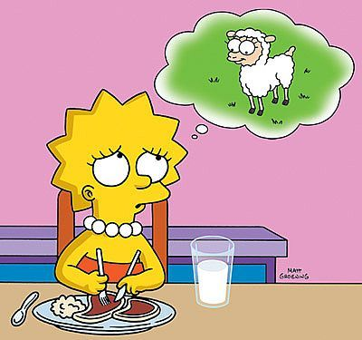 New Vegan Age Vegans And Vegetarians In Pop Culture You Don T Win Friends With Salad Lisa Simpson The Simpsons Going Vegan