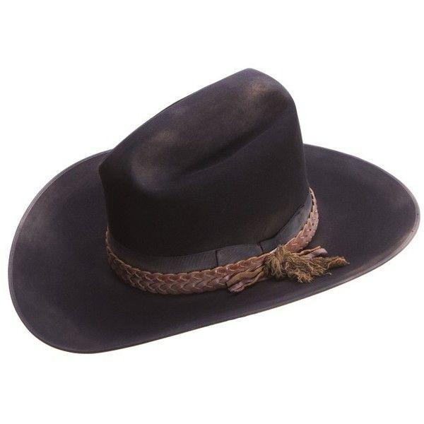 018284d54a2 Resistol Cogburn Distressed Cowboy Hats Black ($310) ❤ liked on ...