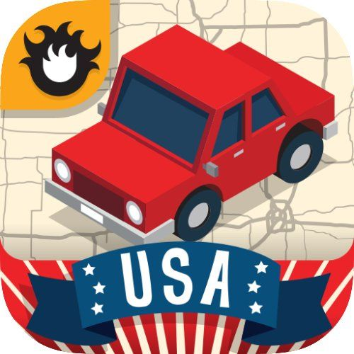 Geography Drive USA 50 U.S. States & Capitals Trivia