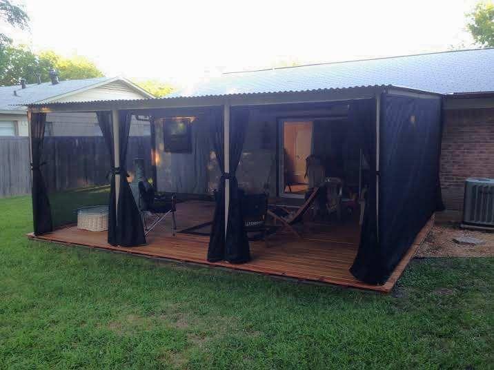 mosquito netting patio outdoor shade