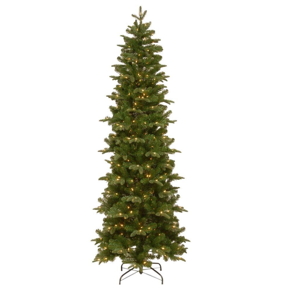 This Prescott Slim Tree Features Feel Real Branch Tip Technology Creating A Tr In 2020 Christmas Tree Clear Lights Slim Christmas Tree Slim Artificial Christmas Trees