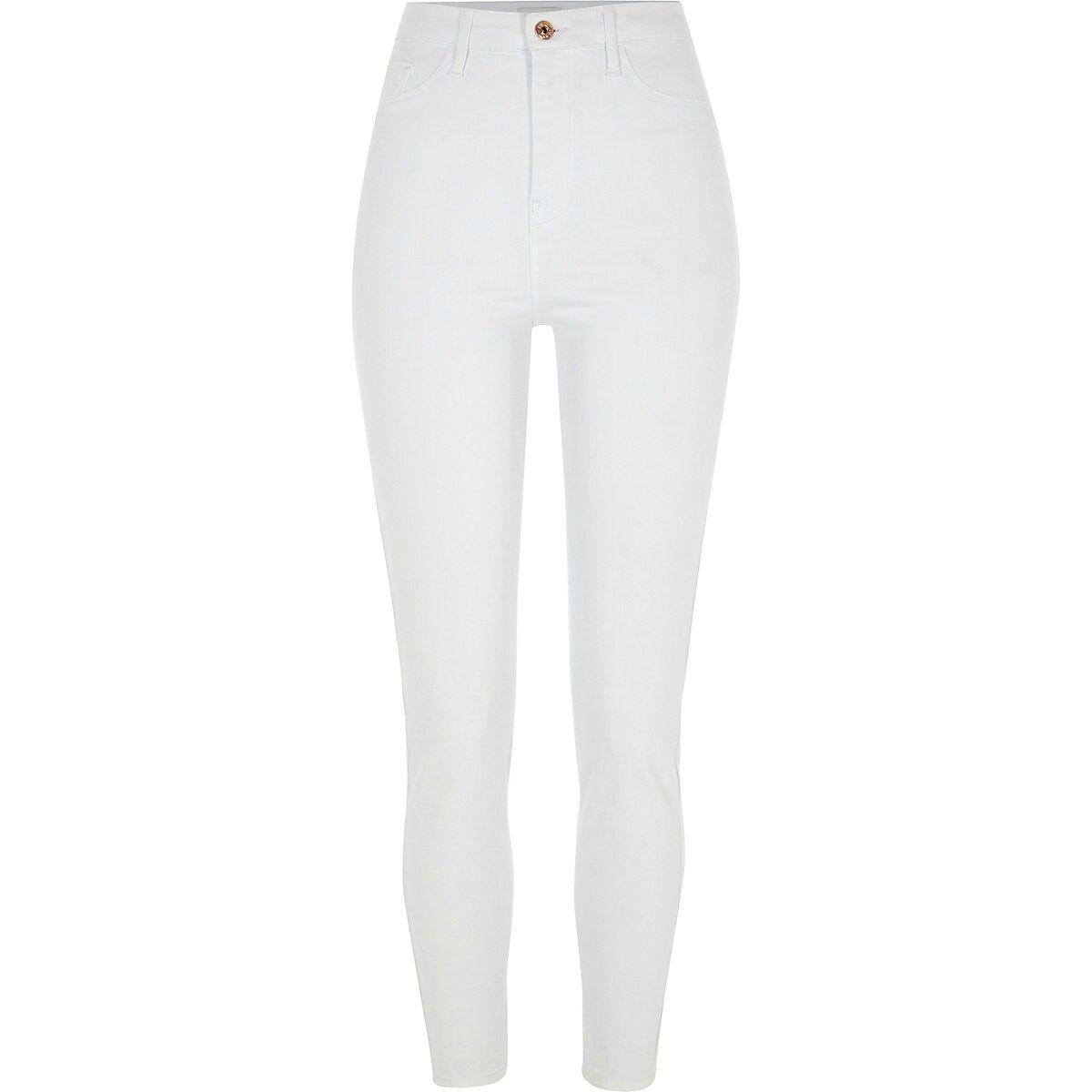 c6f9cc314e3e White Harper high rise skinny jeans   All blue baby in 2019   White ...