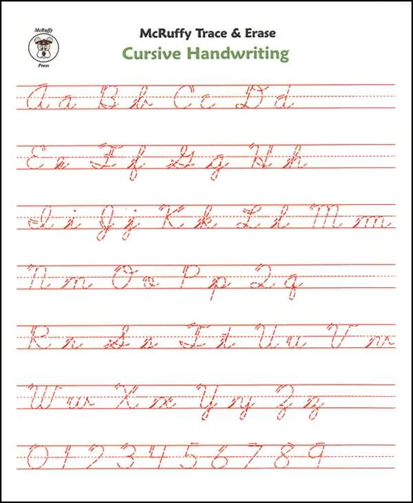 Cursive Alphabet Practice Sheet Printinghandwriting – Trace Your Name Worksheets