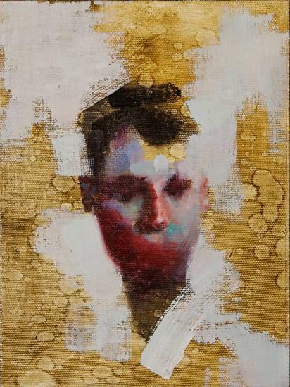 "Soldier no. 4 by John Wentz Oil ~ 8"" x 6"""