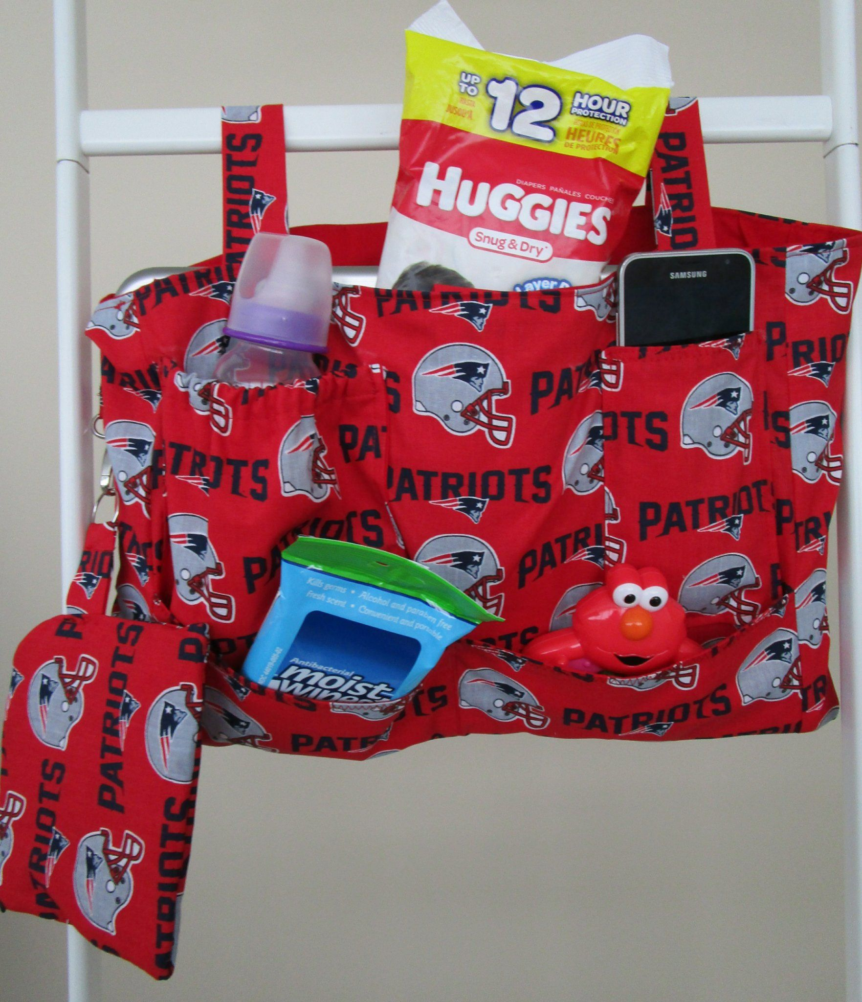 New England Patriots on Hospital Bed Organizer/Walker Tote