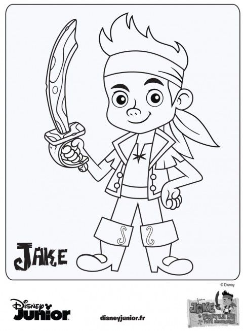 Coloriage Jake Et Les Pirates Du Pays Imaginaire Disney Junior