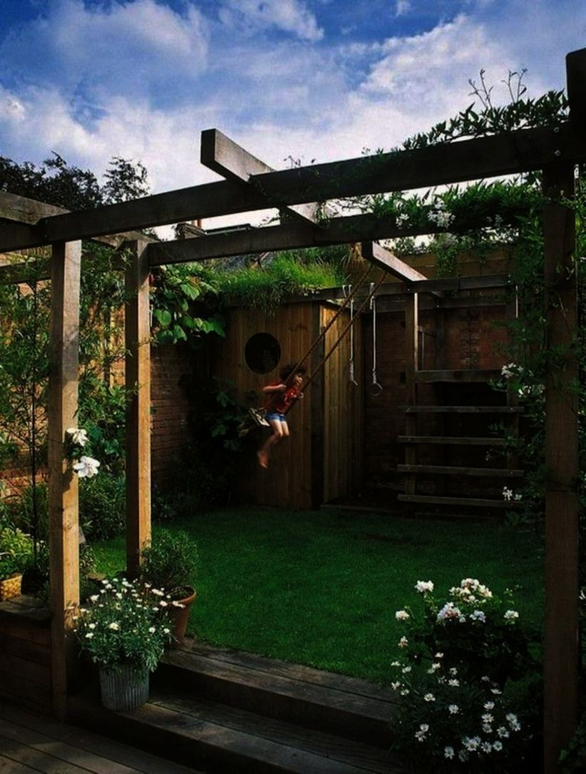 Landscape Ideas For Backyard With Dogs toward Landscape ... on L Shaped Backyard Ideas id=29694