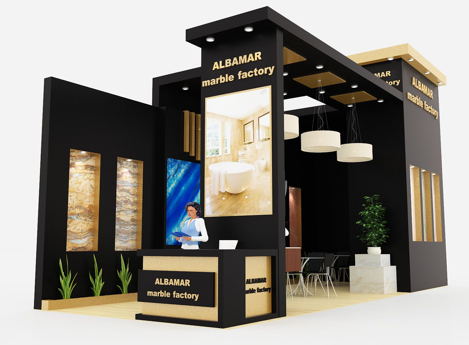 Exhibition Stand Designers Amp Builders : Albamar marble exhibition stand design stand exhibition stand