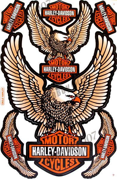 Copper Eagle Harley Davidson Stickers Decals Motorcycles Racing - Stickers for motorcycles harley davidsonsmotorcycle decals and stickers