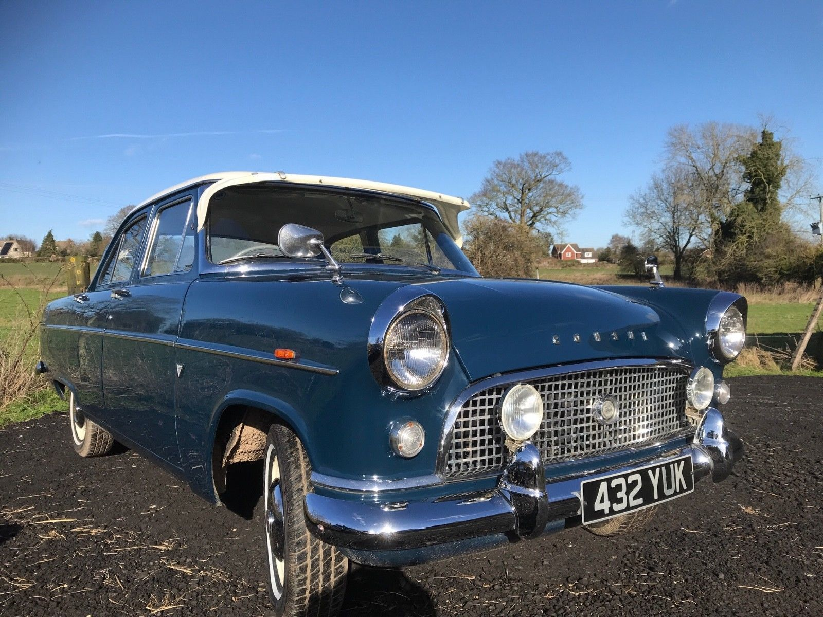 Ebay 1960 Ford Consul Mk2 Super Condition Long Mot Runs And Drives Good Classiccars Cars Cars Motorcycles Classic Cars Ford 1960s Cars