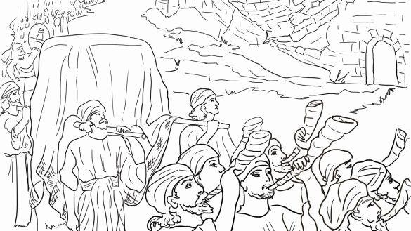 Walls Of Jericho Coloring Page Unique Marvellous Design ...