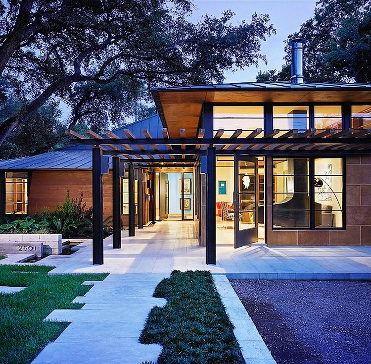 Fusion Of Asian Influences And Modern Architecture Tarrytown - Beautiful interiors with asian influences tarrytown residence by webber studio architects