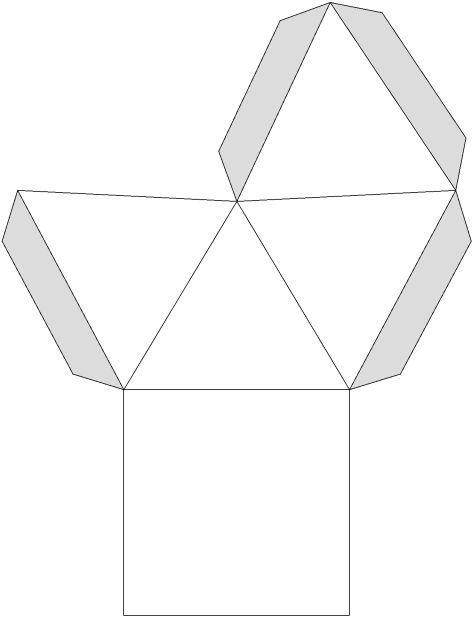 Pyramide Bastelvorlagen Geometrie Korper Geometrische Korper