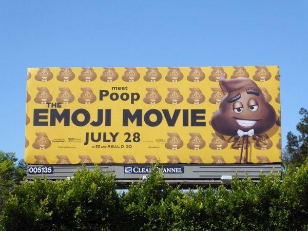 The Emoji Movie Meet Poop billboard Barham Boulevard