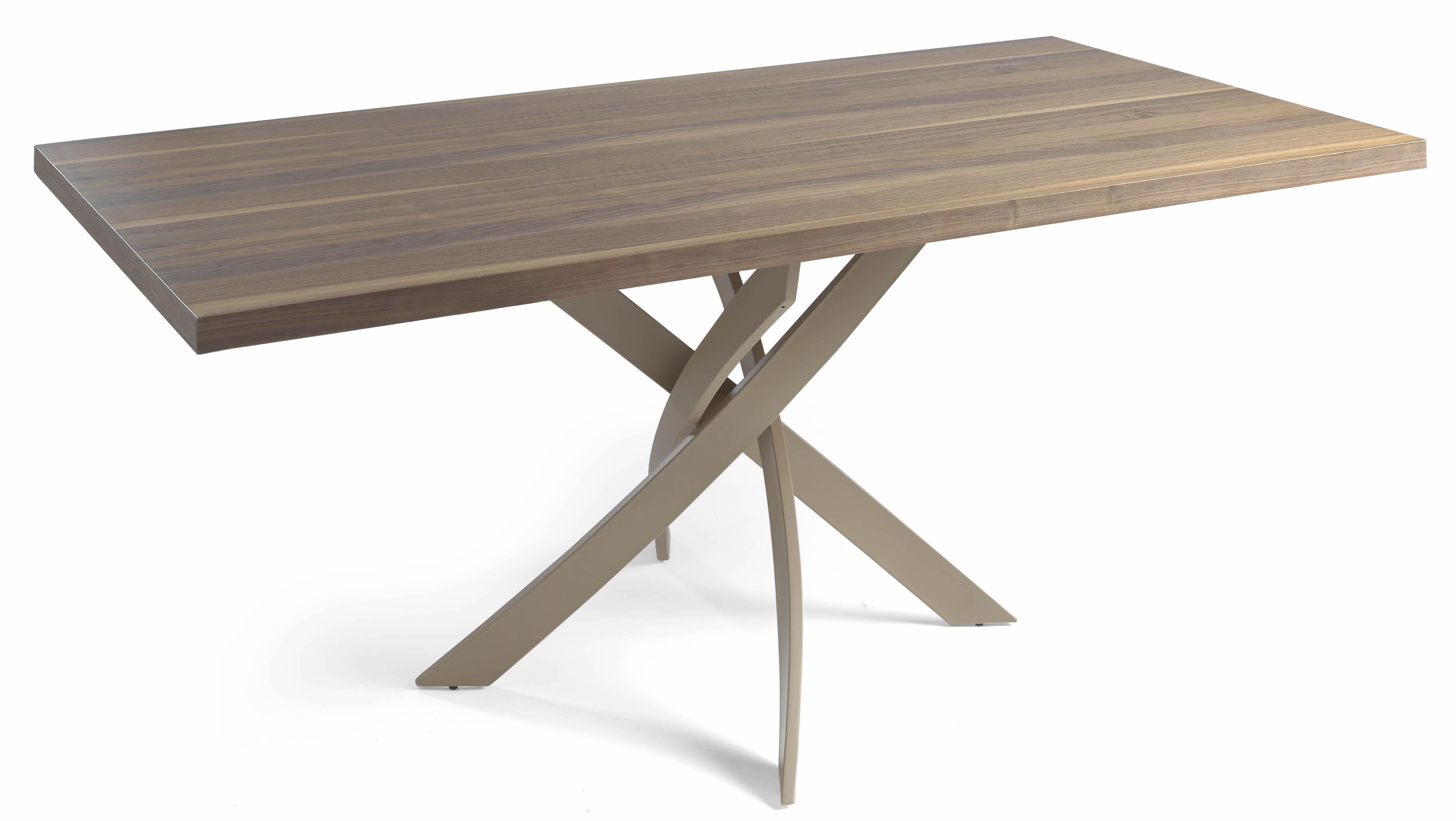 Designer Table Rectangulaire Bois Noyer Et Fibre De Verre Taupe Gala Dimensions L 140 X P 95 X H 75 Cm Lestendances Fr Table Rectangulaire Bois Table De Salle A