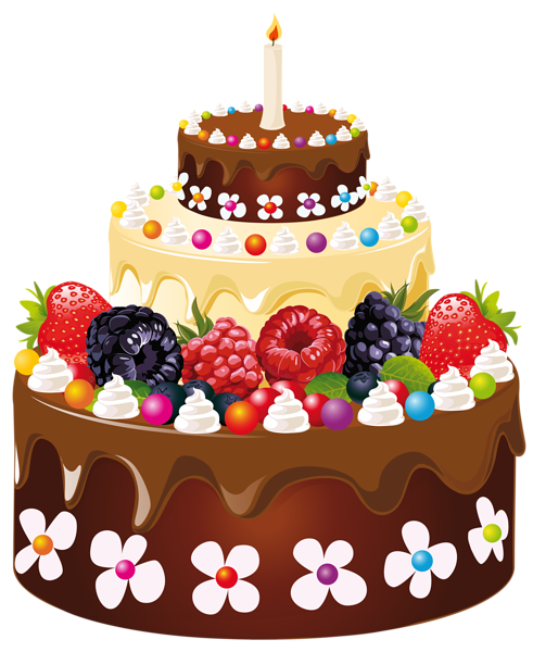 Birthday Cake Clip Art Image Clips Wishes Happy