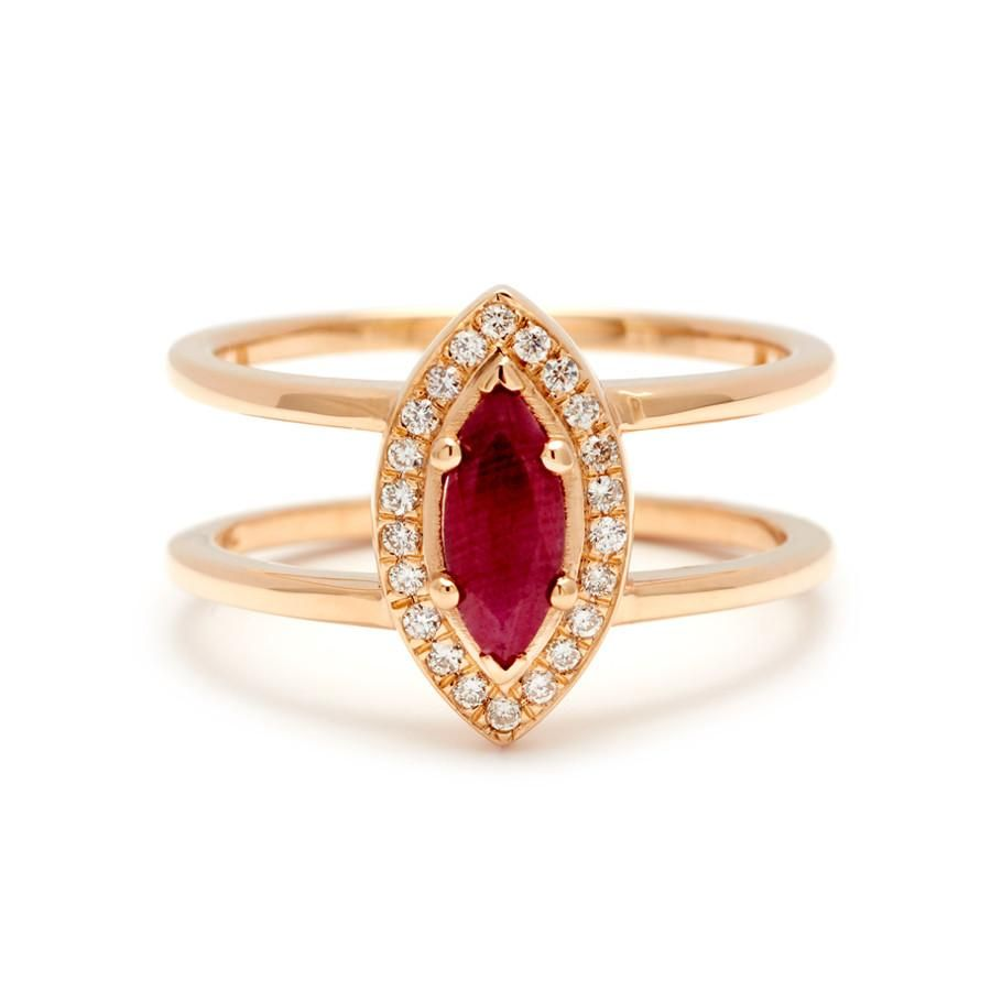 Attelage marquise cut ring yellow gold u ruby rings pinterest