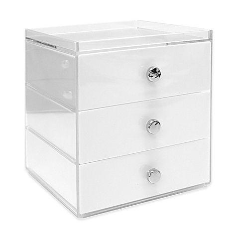 Interdesign Luci 3 Drawer Vanity Organizer In White Vanity