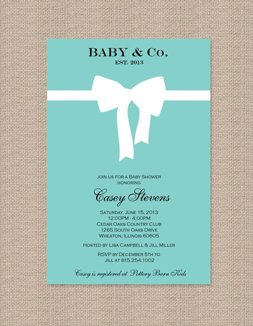 Tiffany Blue Baby Shower Invitations Party ideas Pinterest