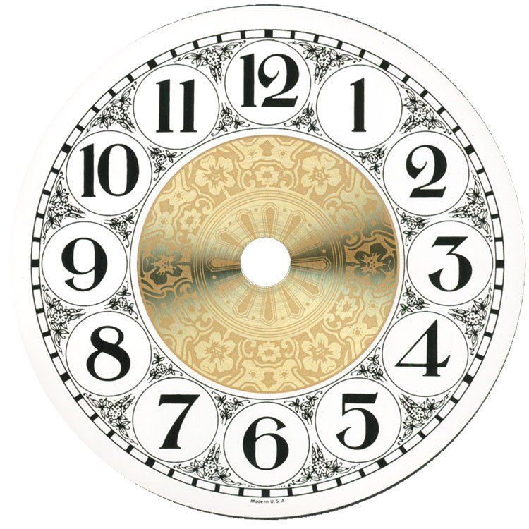 4 1 4 Metal Designer Fancy Face Arabic Clock Dial Clock Face Printable Clock Template Antique Clock
