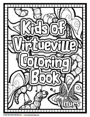 free we choose virtues coloring book  coloring books