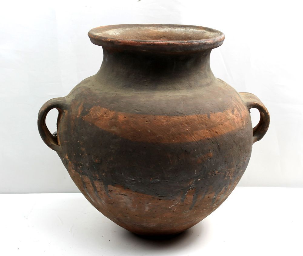 Large old primitive pottery vessel vase urn maybe south america large old primitive pottery vessel vase urn maybe south america red black band reviewsmspy