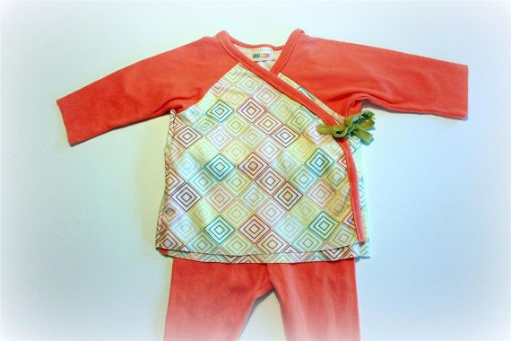 Kimono Outfit by anna leigh 36m Organic cotton by pellerinadesign,