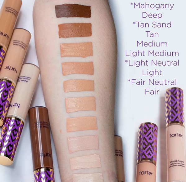 What Shades Do The Tarte Cosmetics Shape Tape Concealers