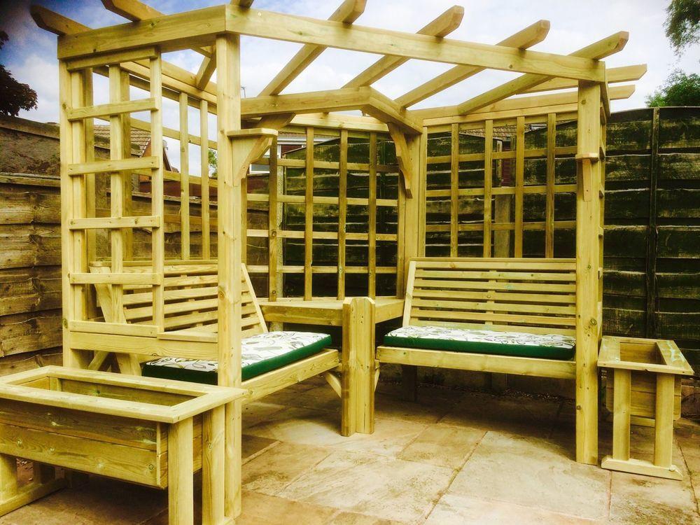 Details About Corner Arbour Garden Arbour Seat Pergola