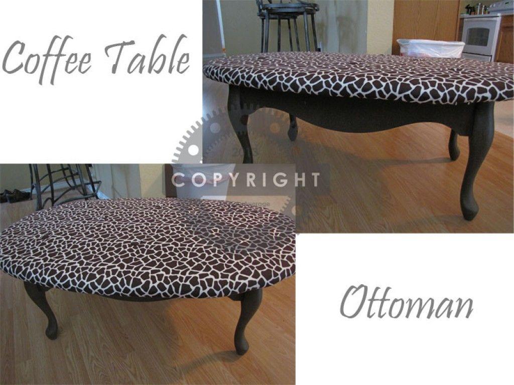 Diy Coffee Table Ottoman Ottoman Table Diy Coffee Table Coffee Table [ 768 x 1024 Pixel ]