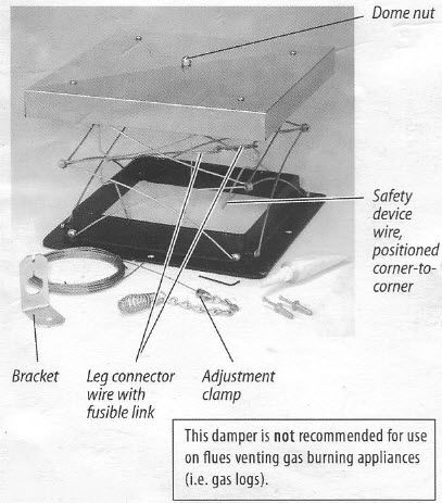 How to Install Chimney Damper - 5 Easy Steps | #rockfordchimneysupply - How To Install Chimney Damper - 5 Easy Steps