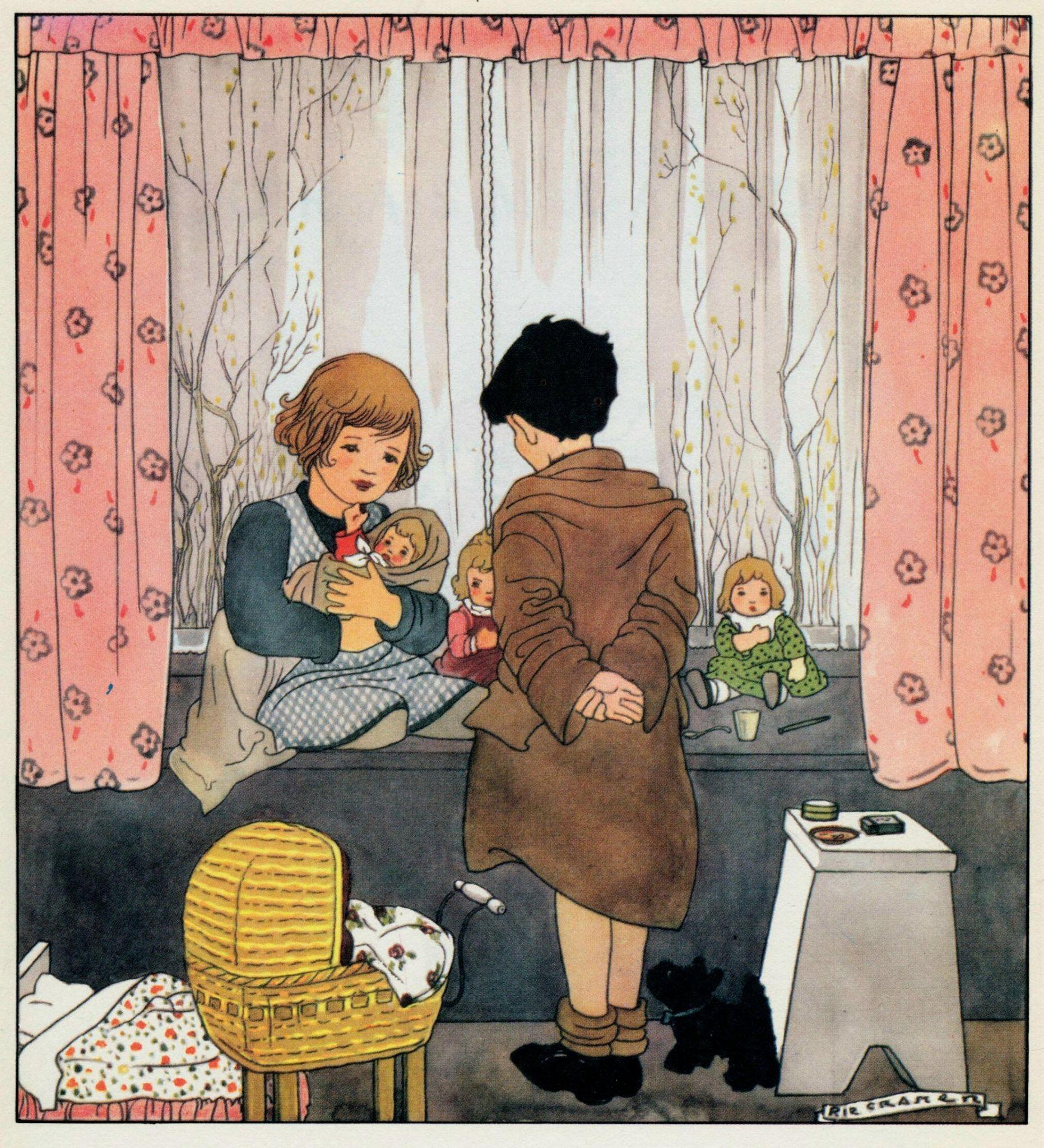 Rie Cramer Het jaar rond editie 1978, ill verkouden poppen bb | by janwillemsen
