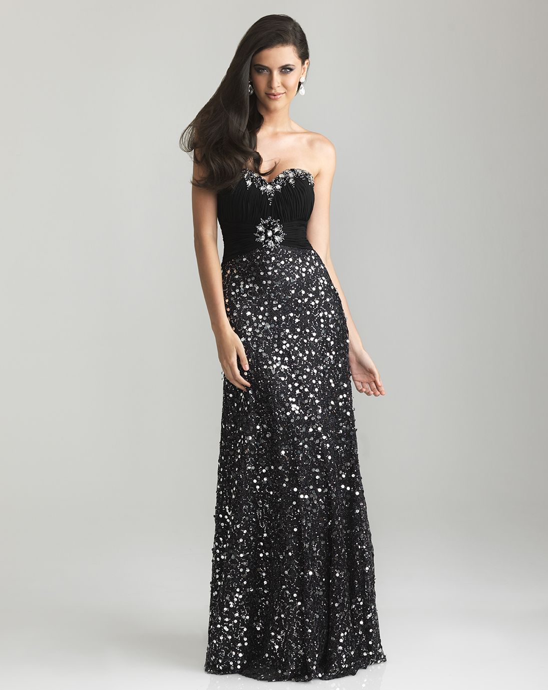 Black Sequin Prom Dress Photo Album - Klarosa