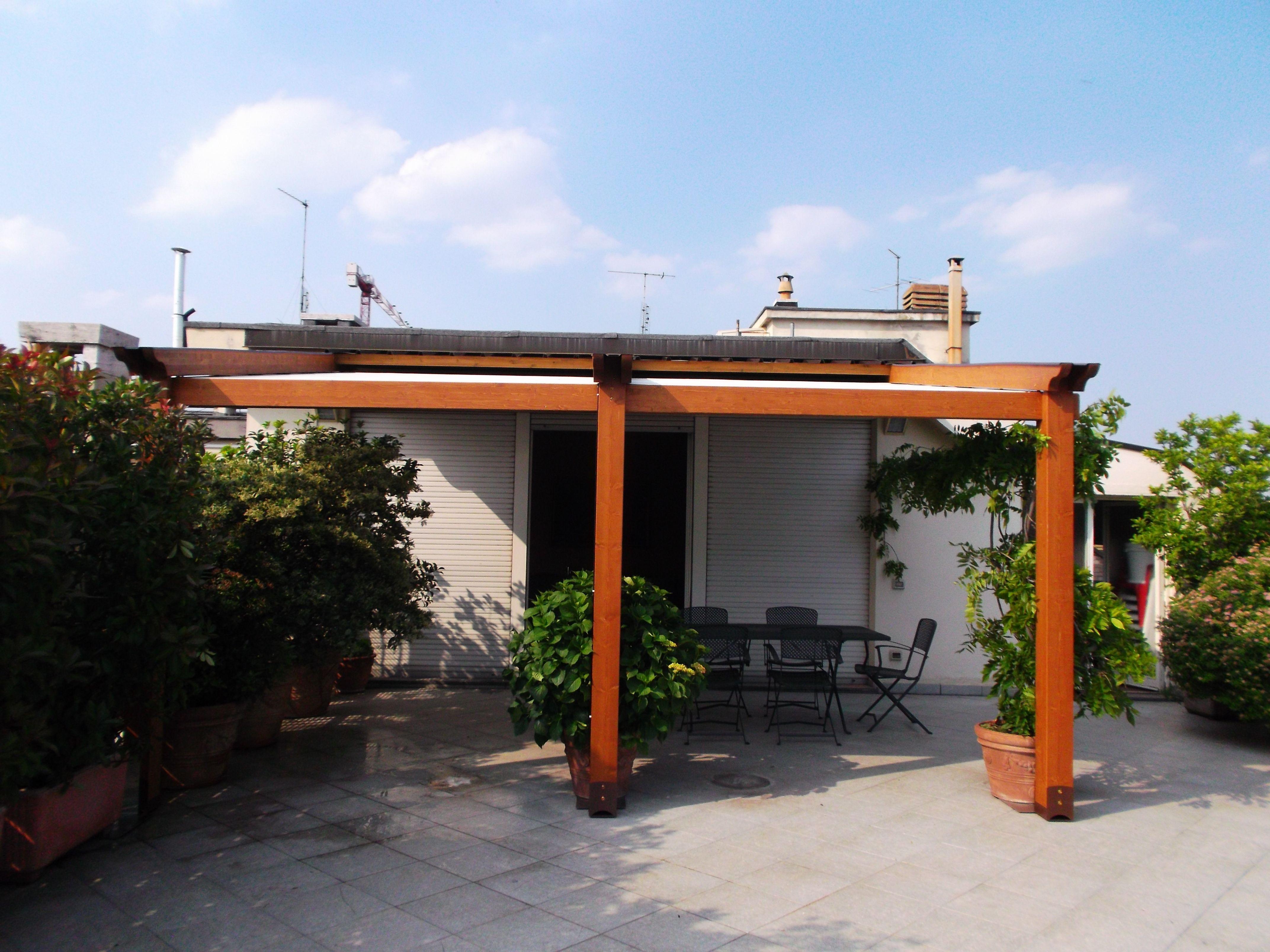 Pergola Elettra su terrazzo a Torino | Garden Giardino | Pinterest ...