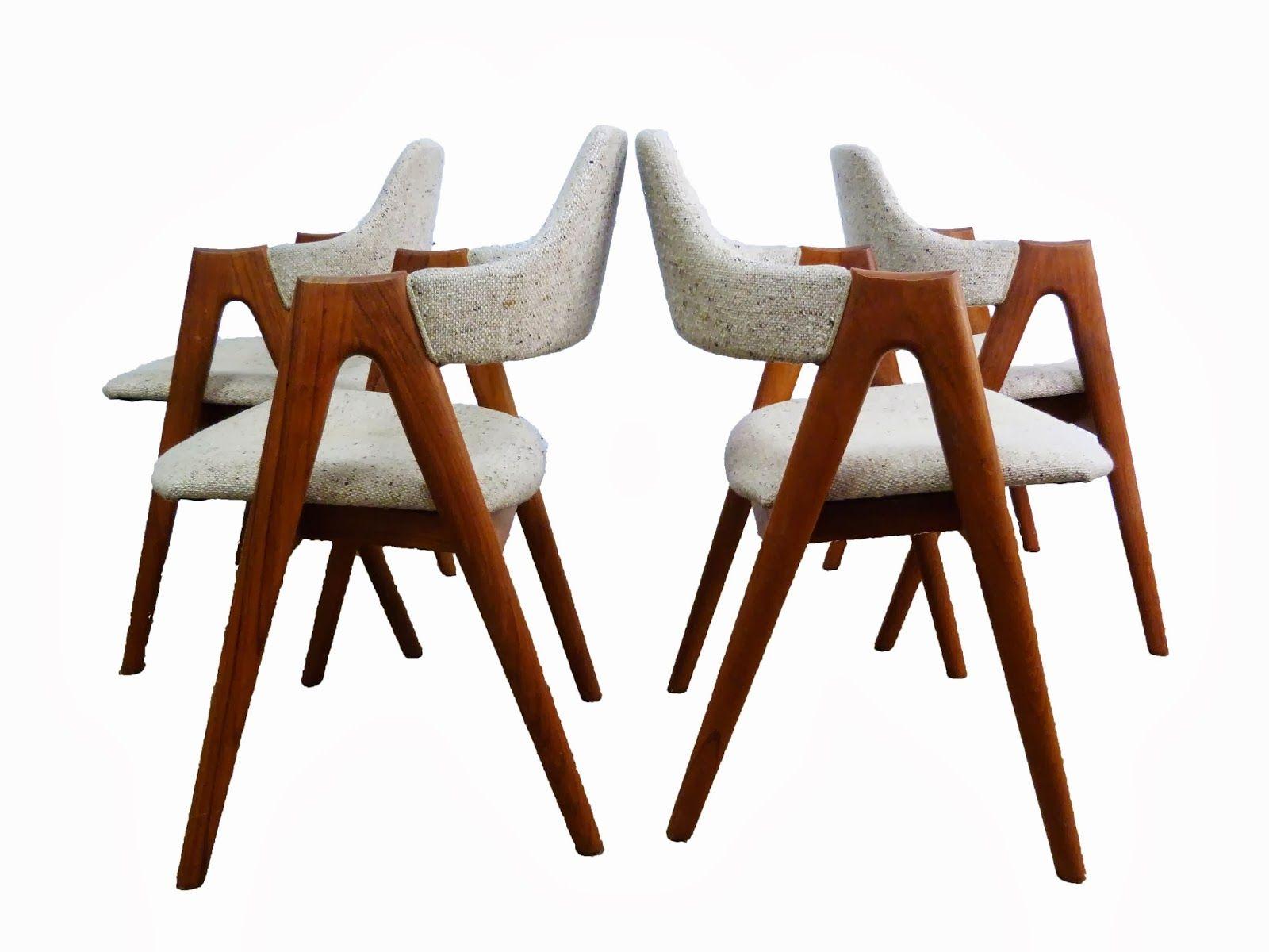 Kai Kristiansen Sva Compass Chairs Danish Modern Teak Lounge Chairs Mid Century Oval Drop Leaf Dining Table