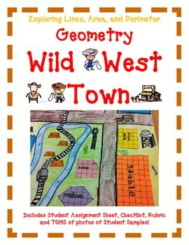 Geometry Activity Project WILD WEST TOWN- Exploring Lines