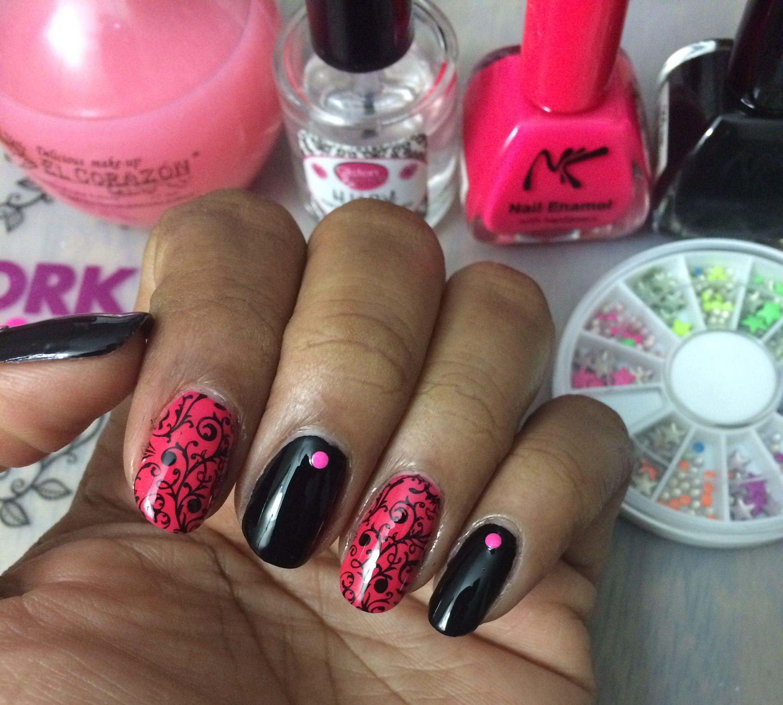NK nail polish Noir and Fuchsia El Corazon Base Coat H K Girl Top ...