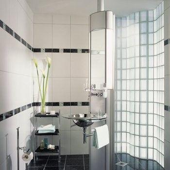 Realisierung Glasbausteine Glassteine Glass Blocks Bad Dusche ... | {Glasbausteine dusche beispiele 72}