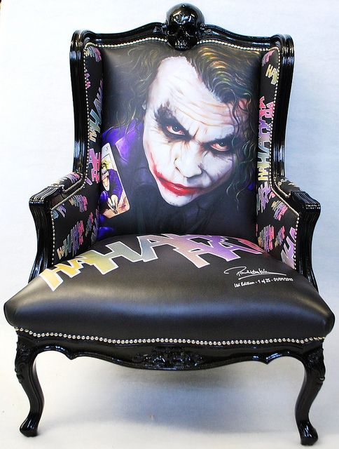 Attractive Joker Chair Limited Edition Of 25 Only Featuring Artwork Of Heathe Ledger  As The Joker By Gallery