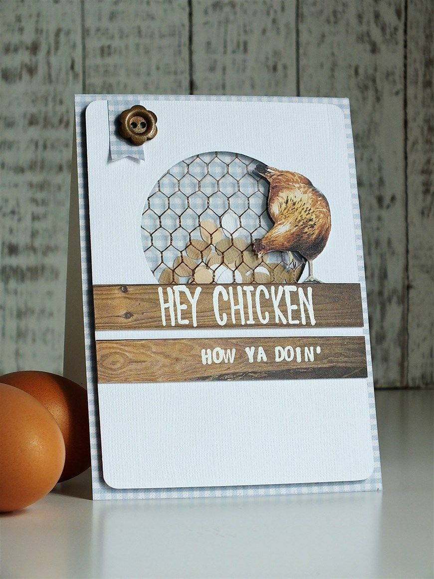 Hey chicken greeting card cards pinterest cards card ideas hey chicken greeting card kristyandbryce Gallery