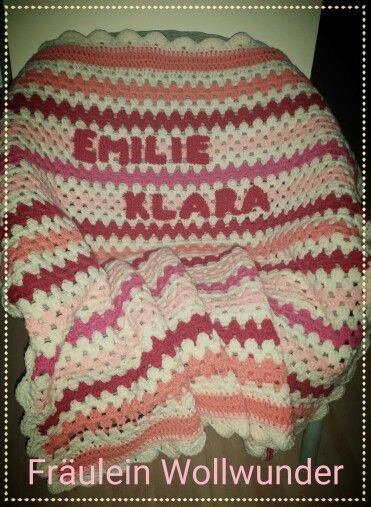 Babydecke * granny stripes * Baby blanket * afghan * gehäkelt * crochet https:// www.facebook.com / fraeuleinwollwunder