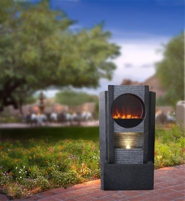 Modern Fireplace LED Fountain These Ultra Fire LED Light Fountains